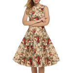 Vintage Sleeveless Floral Sexy Print Dress