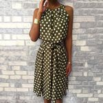 Sexy Off Shoulder Ruffles Polka Dot Printed Dress