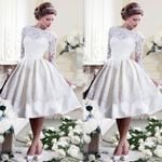 Backless Off Shoulder Long Sleeve Vintage Gothic Lace White Dress
