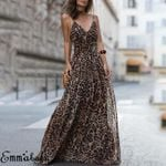 Sexy Sleeveless Casual Fashion Elegant Leopard Dress
