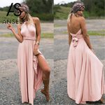 Sexy Long Formal Wrap  Hollow Out Bandage Party Dress