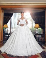 Long Sleeves Lace Luxury Wedding Dresses