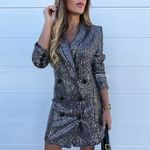 Lapel Short Slim  Elegant Long Sleeve Blazer Dress