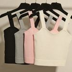 Sexy Slim Cotton Sleeveless Bustier Tanks Tops