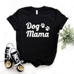 Cotton Casual Funny Dog paw Print T-shirts
