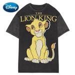 Casual Fashion O-Neck Pullover  Lion King Cartoon Print T-Shirt
