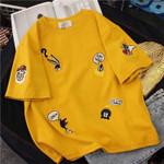 O-Neck Short Sleeve Cute Cartoon T-Shirt