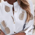 Long Sleeve Pineapple Blouse