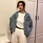 Turn-Down Collar  Tassel Pockets Denim Jacket