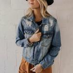 Fashion Casual Basic Denim Jacket