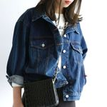 Turn-down Collar Loose Casual Denim Jackets