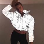 High Waist Fashion Cotton-padded Baseball Jacket