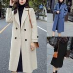 Vintage Long Sleeve Button Woolen Coat