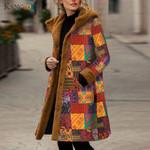 Hooded Long Sleeve Vintage Fleece Thicken Coats