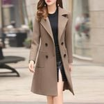 fashion  long woolen coat