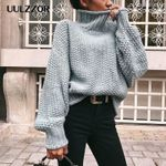 Pullovers Casual Loose Turtleneck Knitted Sweater