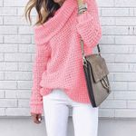 Pullover Warm Knitted Off Shoulder Sweater