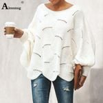 Printed Casual Boat Neck Sweater
