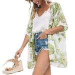 Beachwear Cardigan Floral Chiffon Cardigan kimono