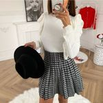 Sexy Fashion A-Line  High Waist Girl Pleated Plaid Skirt
