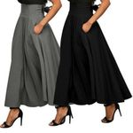 vintage cotton A line high waist fashion  long skirt