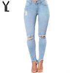 Fashion Hole Casual High Waist Ripped Jeans