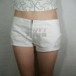 Zipper Open Vintage Cute Sexy Lace Denim Shorts