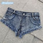 Skinny Side Sexy Fashion Buttons Retro Middle Waist Club Shorts