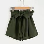 High Waist Elastic Waist Shorts