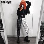 Comfortable Casual Checkered Patchwork Hip Hop Jogger Pant