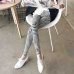 Denim Casual Knitting Printing Silk  Pants