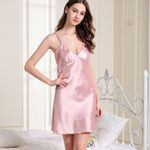 Lace Strap Bandage Sexy Satin Nightgown Sexy Sleepwear