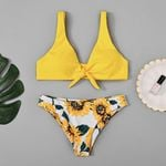 Explosion Elements Sexy Sunflower Bow Bikini