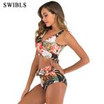 Floral Vintage Sexy Bather  High Waist Bikini