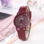 Quartz High-end Glass Waterproof Leather Wrist Watches