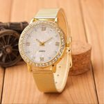Fashion Crystal Stainless Steel Analog Quartz Wrist Watches