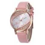 Luxury Leather Brand Fashion Rhinestone Watch