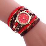 Fashion Weave Leather Bracelet Wrist Watch