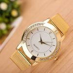Luxury Fashion Crystal Stainless Steel Analog Quartz Watch