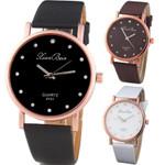 Fashion Leather  Band Round Dial Quartz Wrist Watches