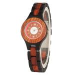 Elegant Small Dial Bracelet Quartz Thin Wooden Watch