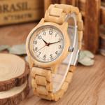 Natural Luxury Quartz Wood Watch