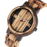 Fashion Large Dial Quartz Classic Wood Watch