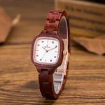 Natural Fashion Square Dial Luxury Wooden Watch