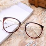 Cat Eye Glasses Transparent Frame Degree Eyeglasses