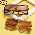 Square Vintage Fashion Gradient Shades Sunglasses