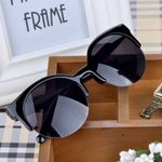 Fashion Classic half  Frame  Cat Eye Sunglasses