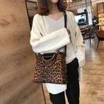 Handle Shoulder Leopard Tote luxury Handbags