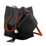 Fashion Leather Tassel Shoulder Handbag