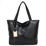 Laser Leather Shoulder Casual Tote Handbag